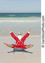 Happy Santa Claus Beach Holiday