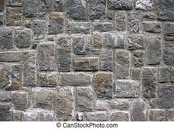 Cubic rock wall texture - Close up of a wall made from cubic...