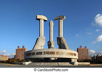 Party Foundatin Monument - PYONGYANG, North Korea - 2012...