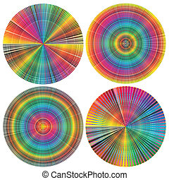 Set of color wheels - Vector signs for calibration, printing...