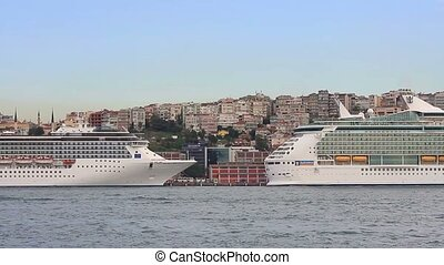 Cruise ships docked in Karakoy Port