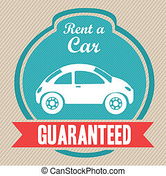 Rent a car - Illustration of rent a car, Vintage label...