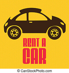 Rent a car - Illustration of rent a car, car icons, vector...