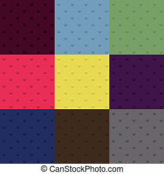 set of seamless polka dot patterns