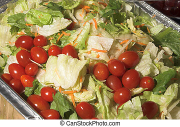 Tossed Salad - A very colorful tossed green garden salad.