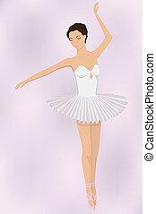 ballet dancer - vector illustration of ballet dancer