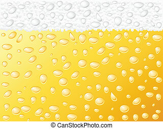 beer background - Dewy beer texture background. Vector...