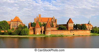 Malbork castle - The biggest in Europe castle, Malbork,...