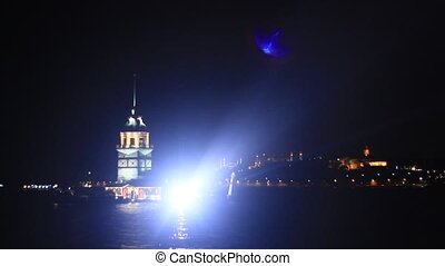 Celebrations in Istanbul, Salacak, Maidens Tower Seamless...