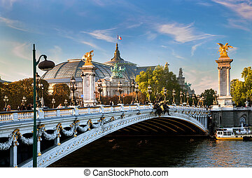 The Grand Palais, Paris, France and the Alexandre Bridge