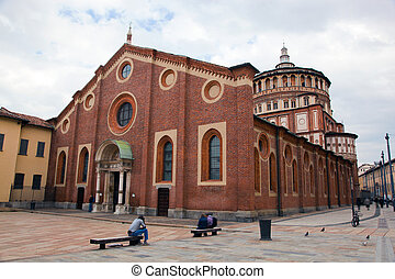 Santa Maria delle Grazie church in Milan. Hosts the painting...