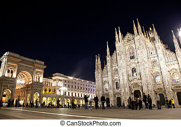 Milan Cathedral, Vittorio Emanuele II Gallery Italy - Milan...