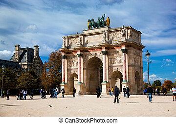 Arc de Triomphe du Carrousel, Paris, France Next to Louvre...