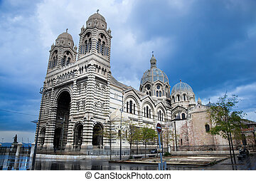 Sainte Marie Majeure - La Major cathedral, Marseille, France...