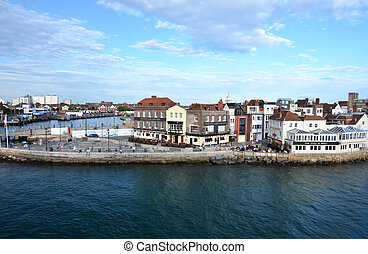 harbour of Portsmouth - harbour entrance of Portsmouth,...