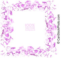 Vector abatract frame handdraw - Vector abatract painted by...