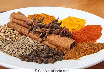 Spices and herbs for seasoning cooking ingredients