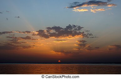 Sunrising over the Red sea