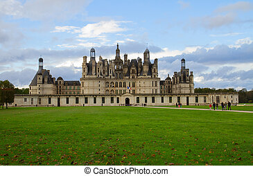 Chambord castle, France - Chambord castle in the Loire...