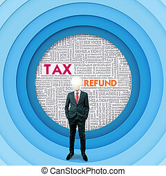 Business word cloud for business and finance concept, Tax...