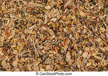Colorful wood chips