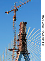 The construction of cable-stayed bridge