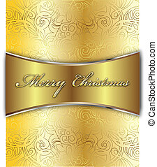 Merry Christmas Vector Card - Merry Christmas Elegant...