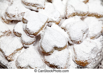 Shortbread Kourabiedes - Shortbread in heart shape for...