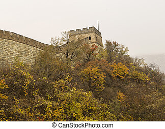 Great Wall in Autumn Season - Outside of the Great Wall in...