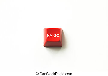Red Panic Button - Image of red panic button, close up