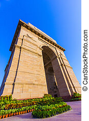 India Gate, New Delhi, India - famous India Gate in New...