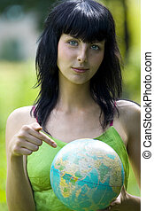 woman show on global - beautiful brunet woman show on global
