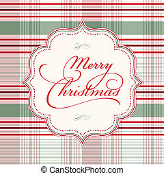 Vector Plaid Christmas Background. Easy to edit. Perfect for...