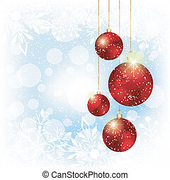 Sparkling Christmas Red Crystal Ball
