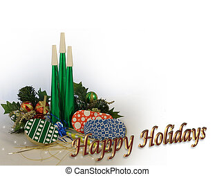 Happy Holidays - 3D Illustration composition for Christmas...