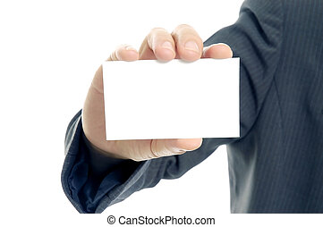 Here is my card - Displaying a blank card