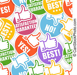 Approval paper stickers seamless background