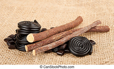 licorice collection - licorice candy and licorice wheels...