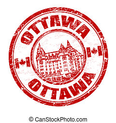 Ottawa stamp - Grunge rubber stamp with the name of Ottawa...