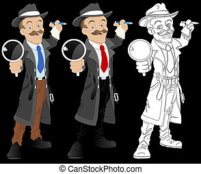 Detective Cartoon Character Vector