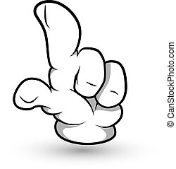 Cartoon Hand Finger Raising Vector - Conceptual Creative Art...