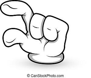 Cartoon Hand Finger Pointing Vector - Creative Conceptual...