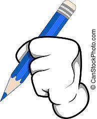 Cartoon Hand Writing Vector - Abstract Conceptual Design Art...