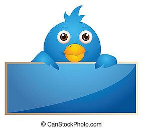 Blue Bird Icon - Creative Conceptual Design Art of Blue Bird...