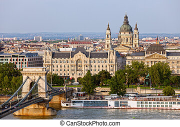 City of Budapest in Hungary picturesque scenery, view from...