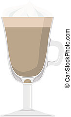 latte - vector illustration: a cup of latte