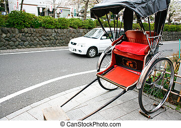 Rickshaw in Kamakura, Japan