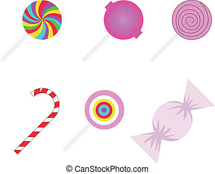 set of different sweetmeats - vector set of different...