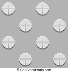 Seamless pattern with screws on gray background