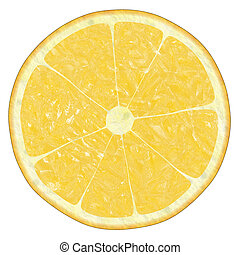 lemon texture on white, suits for duplication of the...